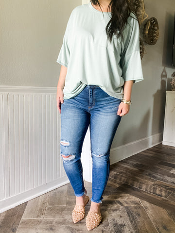 Dark High Rise Skinny Jeans