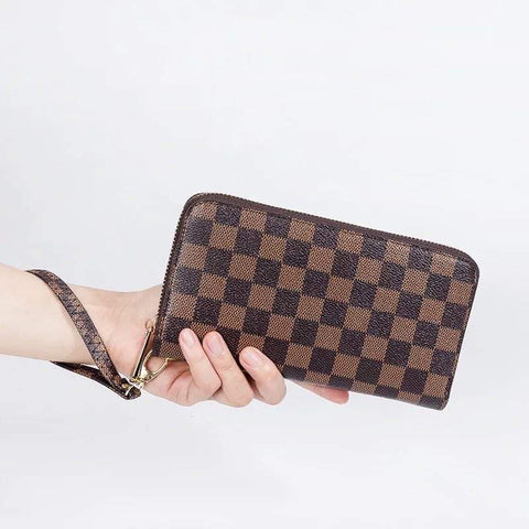 Lux Checked Zippy Wallet *pre order*