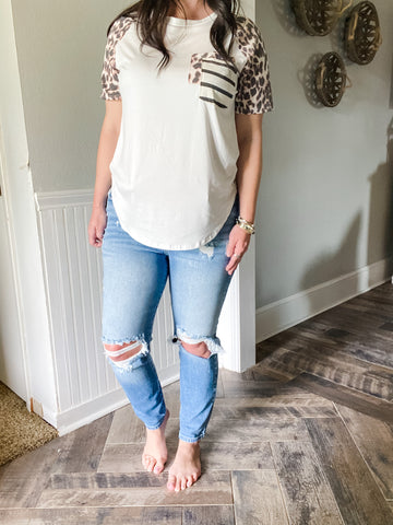 High Rise Mom Skinny Jeans