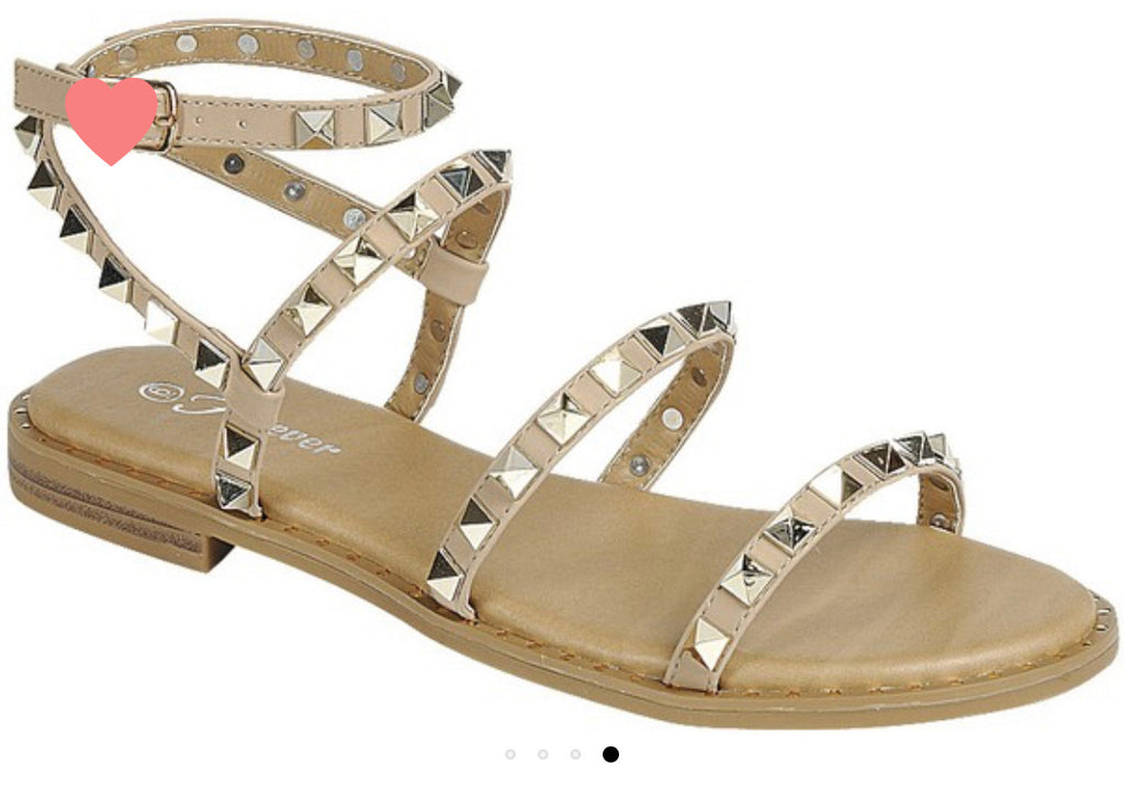 Nude Studded Sandals *final sale*
