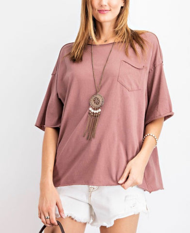 Oversized Boyfriend Knot Top