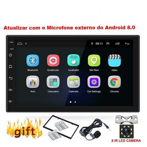 Multimídia Android 8.0 GPS