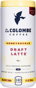 Can of Honeysuckle Draft Latte.