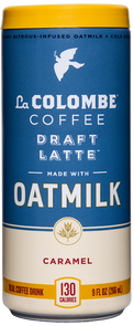 Can of Oatmilk Draft Latte - Caramel.