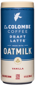 Can of Oatmilk Draft Latte - Vanilla.