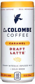 Can of Caramel Draft Latte.