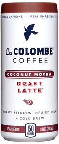 Can of Coconut Milk - Mocha Draft Latte.