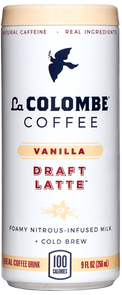 Can of Vanilla Draft Latte.
