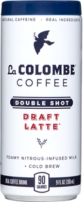 Can of Double Shot Draft Latte.