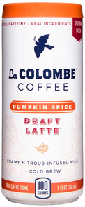Can of Pumpkin Spice Draft Latte.