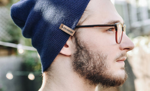 Image of someone wearing a La Colombe Beanie.
