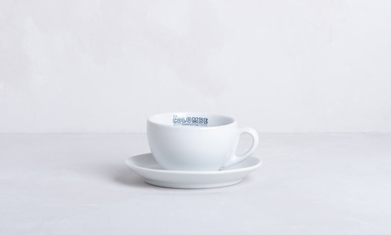 Cafe Latte Mug Saucer La Colombe Coffee Roasters