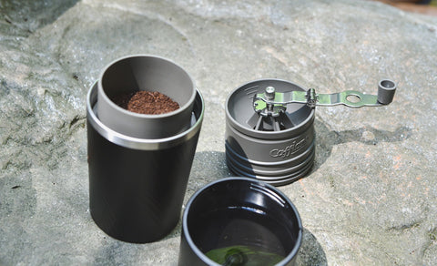 Top view of a Cafflano Portable Pourover Kit.