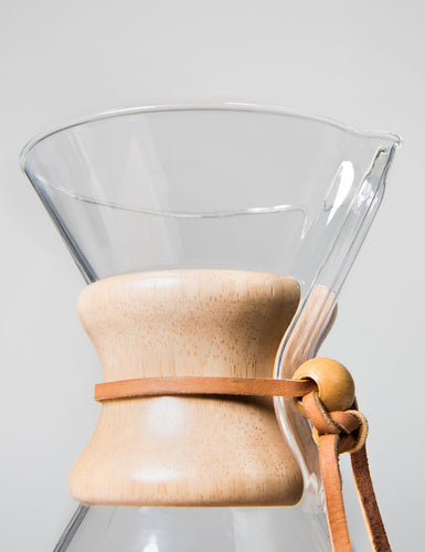 Close-up shot of the top of a Chemex Coffeemaker 6 Cup.