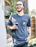Image of someone wearing a Dove Pocket T-Shirt.