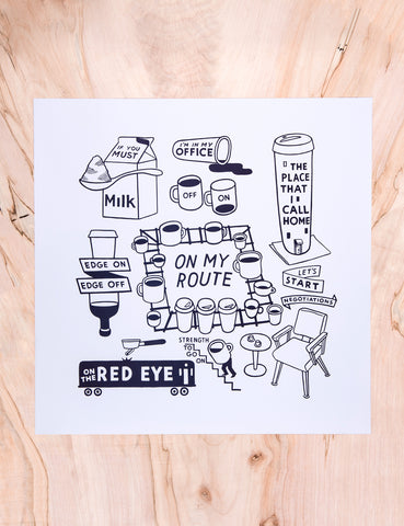 Top view of a Fuel Your Mission Print.