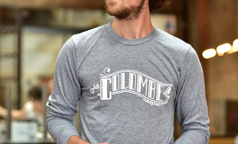 Image of someone wearing a Classic Banner Long Sleeve T-Shirt.