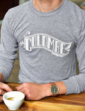Another image of someone wearing a Classic Banner Long Sleeve T-Shirt.