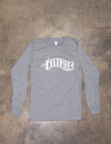 Top view of a Classic Banner Long Sleeve T-Shirt.