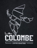 Close-up of the La Colombe graphic on the La Colombe Dove Thermal.