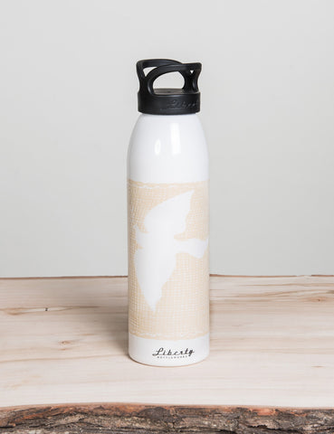 Burlap Liberty Bottle
