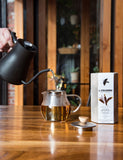 Image of someone pouring hot water into ForLife Brew-In-Cup using the Stagg Kettle.