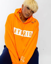 Load image into Gallery viewer, ORANGE HYBRID HOODIE