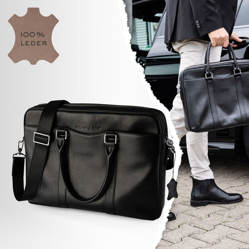 SCAVI & RAY Herren Messenger Bag Modena