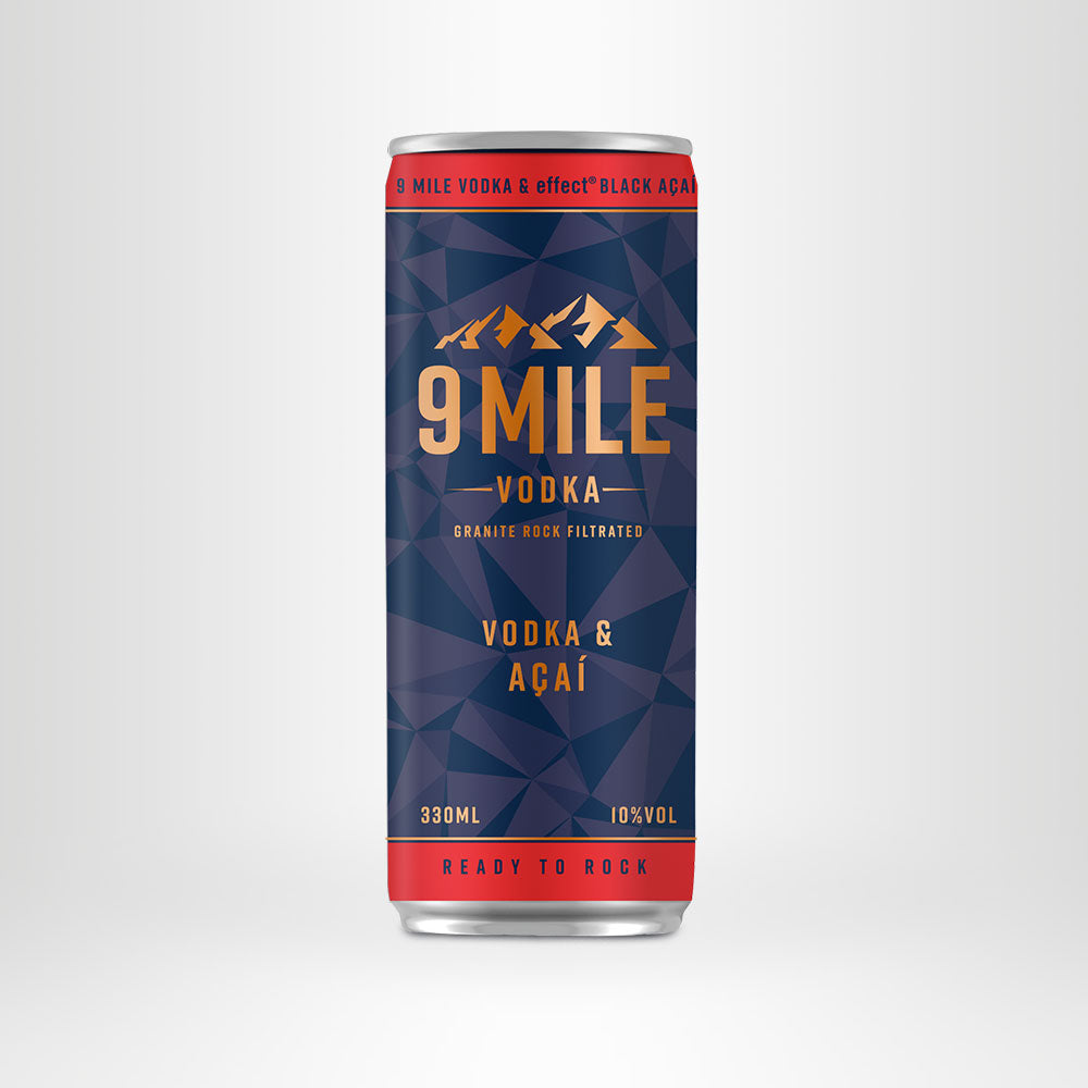 9 MILE Vodka & effect® BLACK AÇAÍ