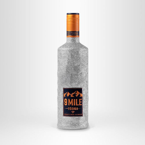 9 MILE Vodka Bling Bling Edition, 0,7l – Silber
