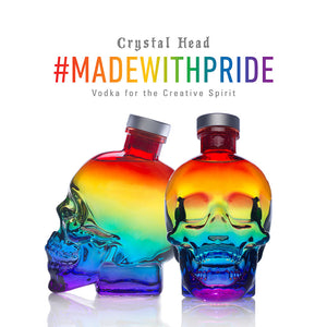 Crystal Head Vodka PRIDE Limited Edition, 0,7l + greatr® Community-Maske Pride GRATIS