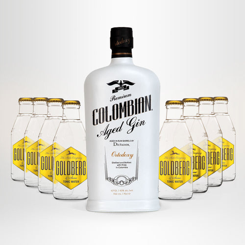 Dictador Columbian Gin Ortodoxy + GOLDBERG Tonic Water Set