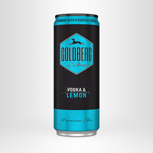 GOLDBERG Vodka & Lemon, 0,33l