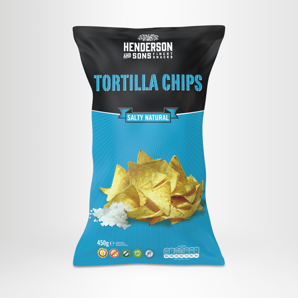 HENDERSON & SONS Tortilla Chips Salty Natural 450g-Beutel