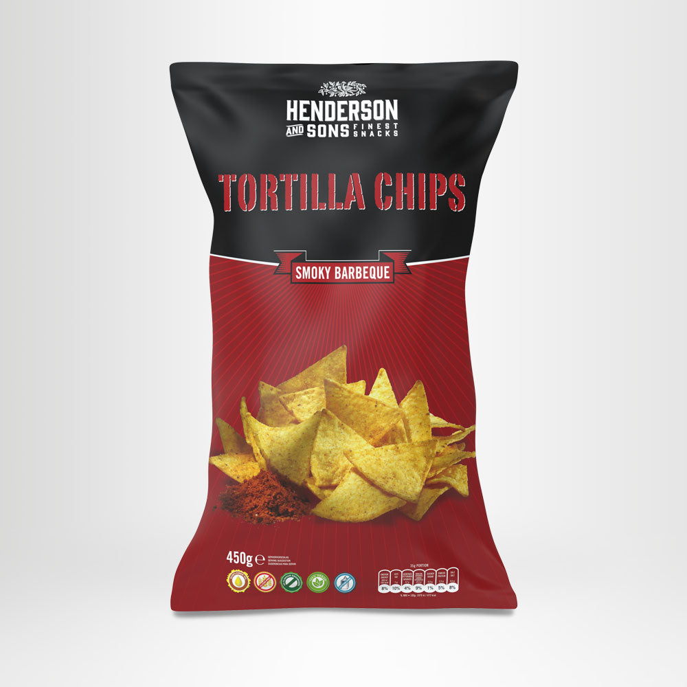 HENDERSON & SONS Tortilla Chips Smoky Barbeque 450g-Beutel
