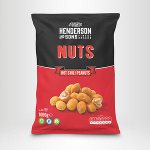 HENDERSON & SONS Hot Chili Peanuts, 1000g