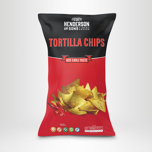 HENDERSON & SONS Tortilla Chips Hot Chili, 800g