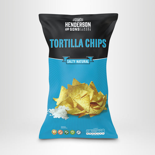 HENDERSON & SONS Tortilla Chips Salty Natural, 800g