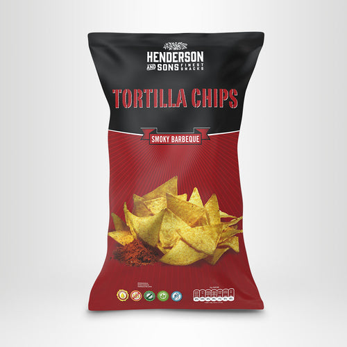 HENDERSON & SONS Tortilla Chips Smoky Barbeque, 800g