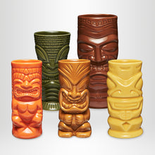 Laden Sie das Bild in den Galerie-Viewer, MAHIKI Tiki Mugs, 5 Stk.