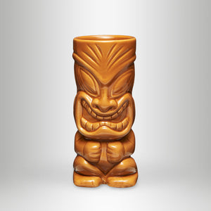 MAHIKI Tiki Mug, Happy Hula Brown, 0,35l