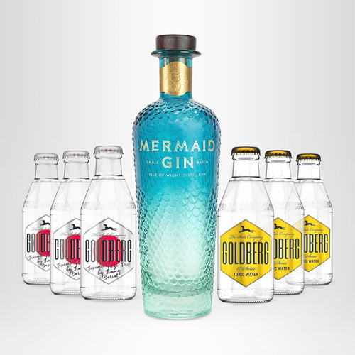 MERMAID Gin, 0,7l + 3x GOLDBERG Japanese Yuzu, 0,2l +  3x GOLDBERG Tonic Water, 0,2l