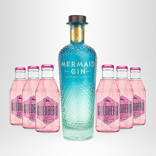 MERMAID Gin, 0,7l + 6x GOLDBERG Hibiscus Tonic, 0,2l