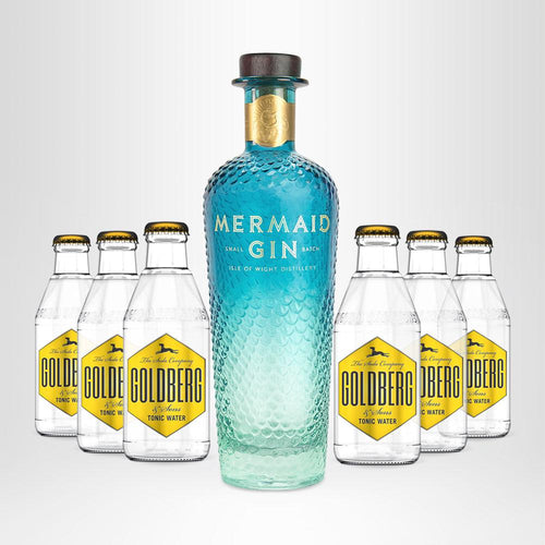 MERMAID Gin 0,7l + 6x GOLDBERG Tonic Water nach Wahl, 0,2l  - versandkostenfrei