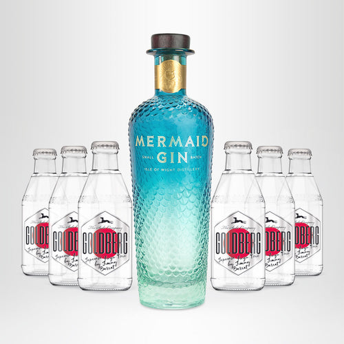 MERMAID Gin, 0,7l + 6x GOLDBERG Japanese Tonic, 0,2l