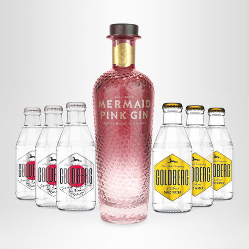 MERMAID Pink Gin, 0,7l + 3x GOLDBERG Japanese Yuzu, 0,2l +  3x GOLDBERG Tonic Water, 0,2l