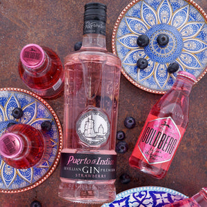 Puerto de Indias Strawberry Gin, 0,7l + 6x GOLDBERG Indian Hibiscus Tonic, 0,2l