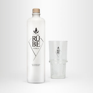 RÜBE Vodka, 0,7l + RÜBE Highballglas