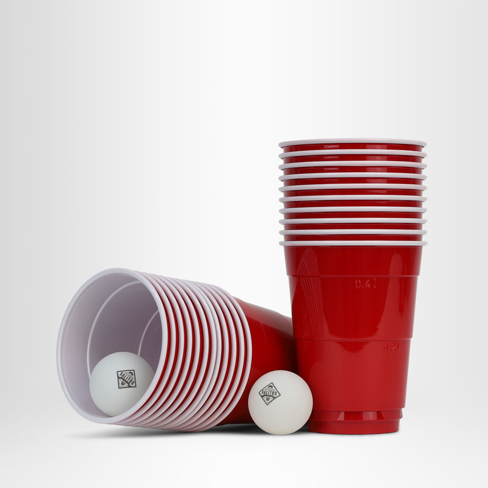 SALITOS Beerpong-Set (22 Red Cups + 2 Bälle)