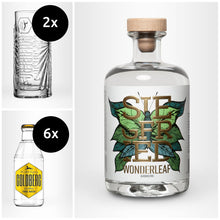 Laden Sie das Bild in den Galerie-Viewer, SIEGFRIED Wonderleaf – alkoholfrei + 6x GOLDBERG Tonic nach Wahl + 2x Highballglas
